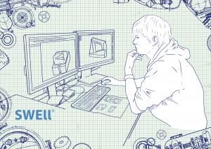ilustrace práce na počítači