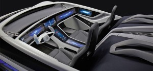 interiér vozu budoucnosti