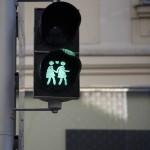Gay friendly traffic light in Vienna