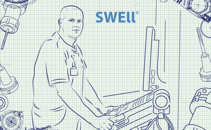 ilustrace pracovníka u CNC