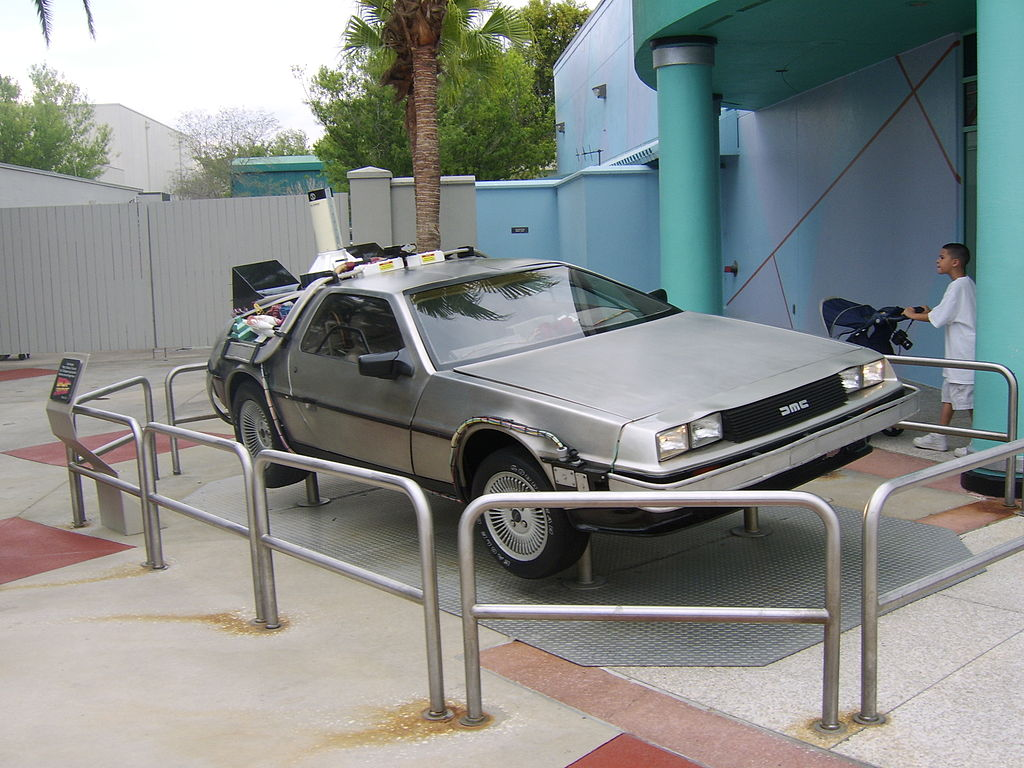 DeLorean DMC-12 z filmu Návrat do budoucnosti, Universal Studios na Floridě | Foto: Wikimedia