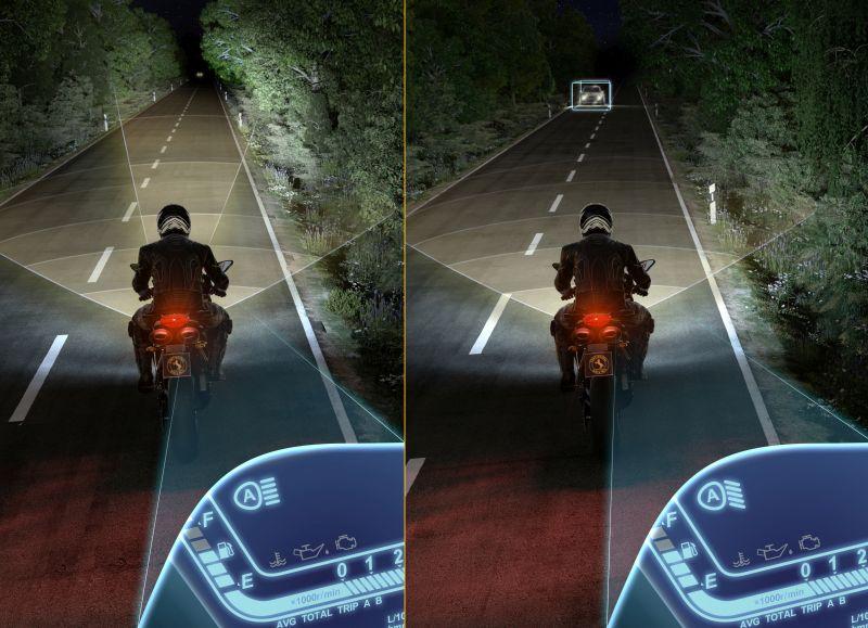 Asistent dálkových světel pro motocykly
