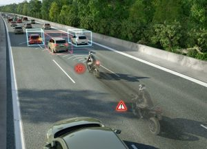 Asistent nouzového brzdění pro motocykly