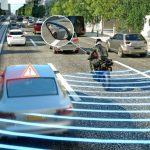Systém sledování slepého úhlu pro motocykly
