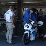 Zázemí závodu elektrických motorek