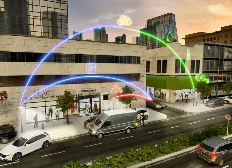 Technologie inteligentního osvětlení chytré město