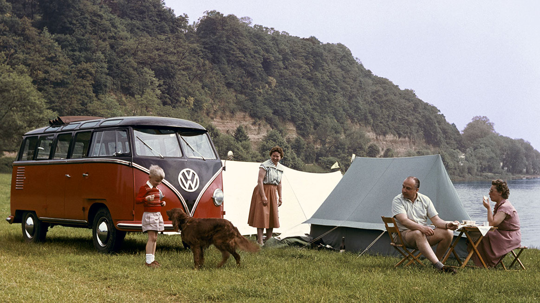 Volkswagen mikrobus a rodina