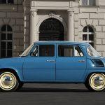 Ladná modrá Škoda 1000 MB