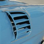 Detaily historická modrá Škoda MB