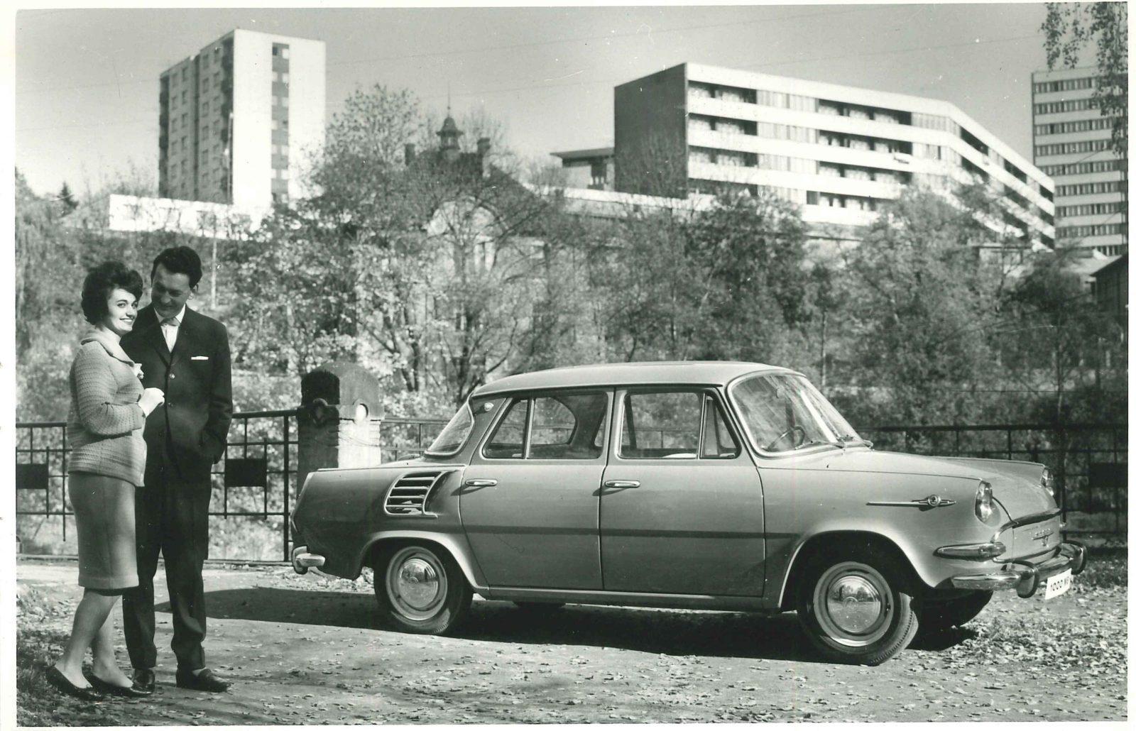 Historická fotka Škoda 1000 MB
