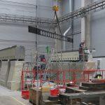 Instalace CNC obráběcího centra Trimill ve společnosti Altran: stavba stroje