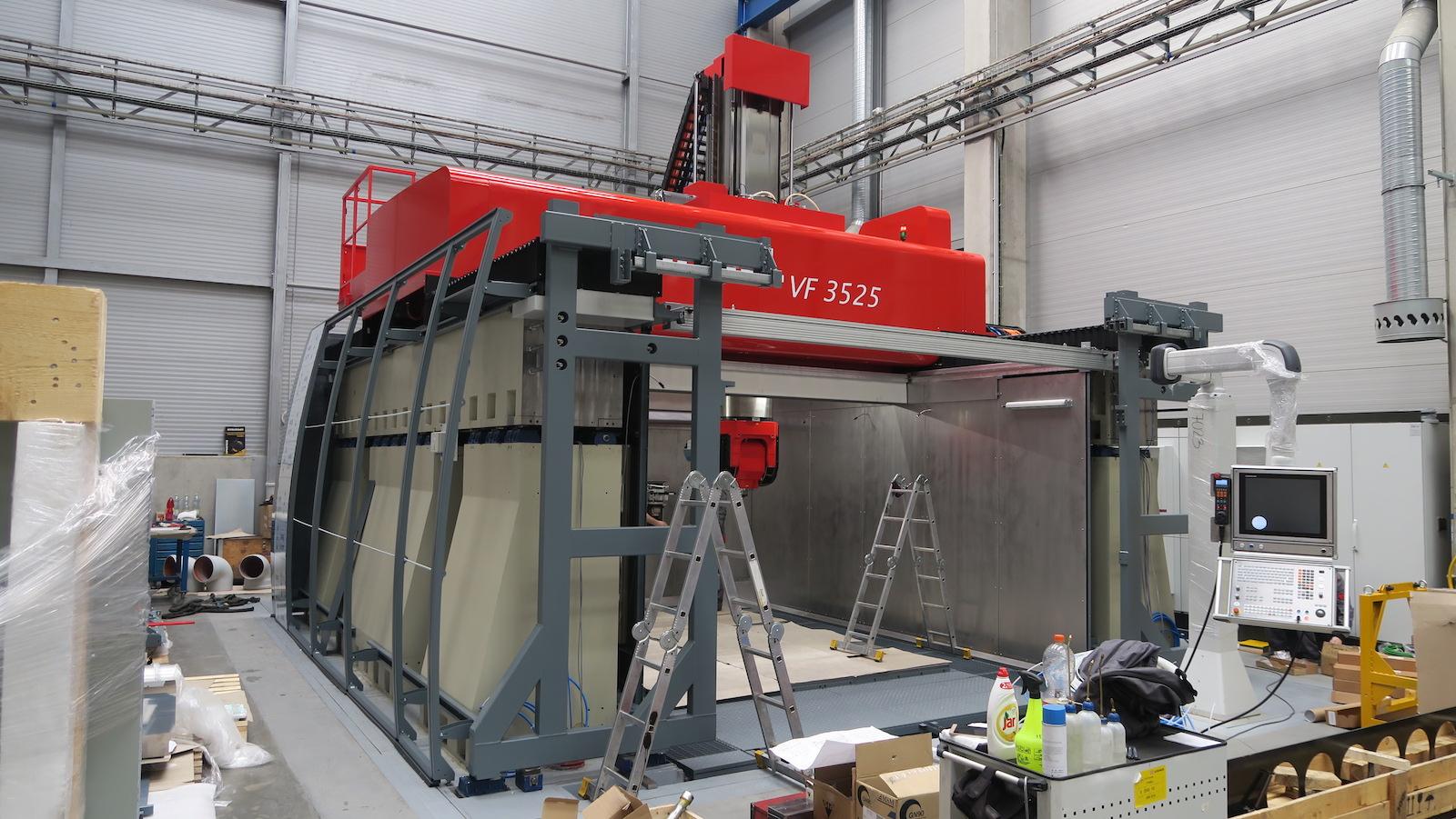 Instalace CNC obráběcího centra Trimill ve společnosti Altran: průběžný stav
