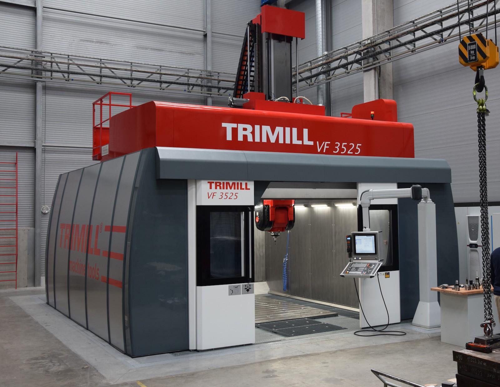 Instalace CNC obráběcího centra Trimill ve společnosti Altran: finální stav