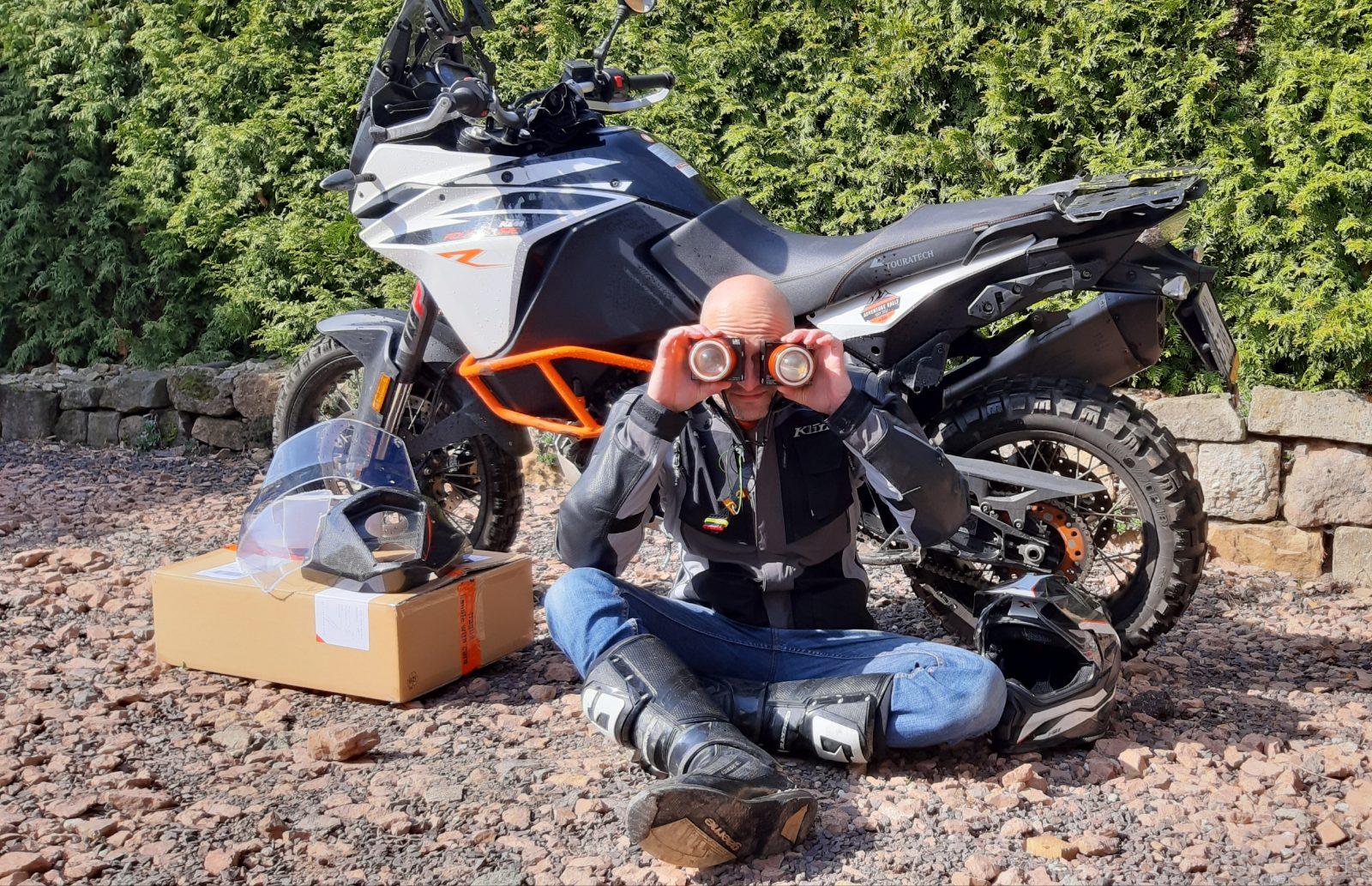 Petr Havlík s motorkou