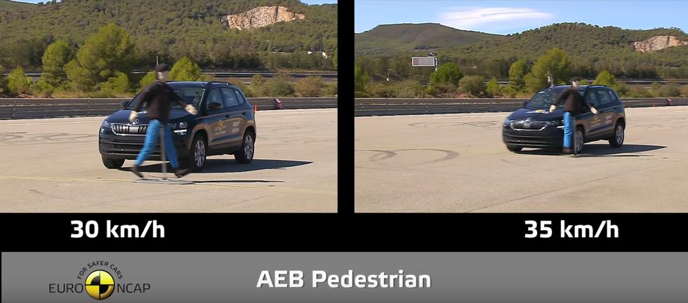 Nárazové zkoušky EuroNCAP - střet s chodcem. | Foto: EuroNCAP