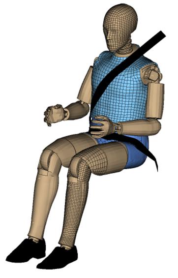 Počítačový model figuríny pro nárazové zkoušky. | Foto: Altran