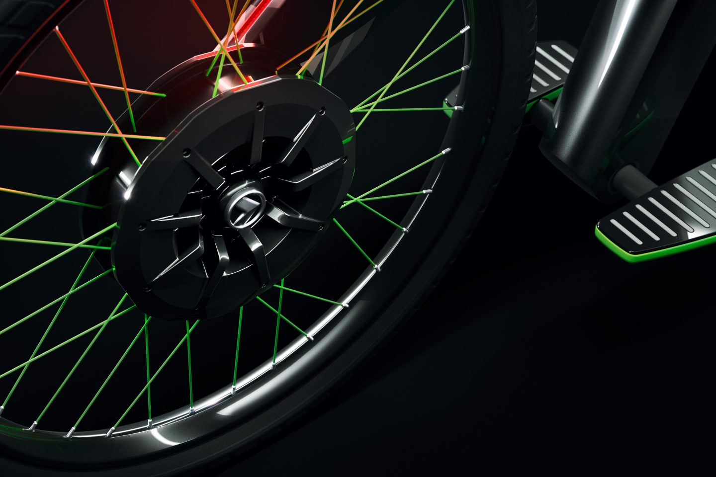 Elektrické kolo Škoda Klement - motor